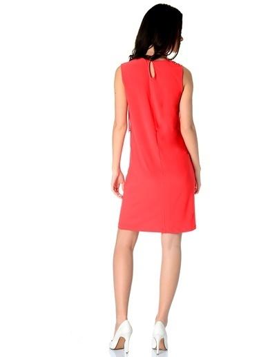 Limon Company Kolsuz Kalem Elbise Kırmızı